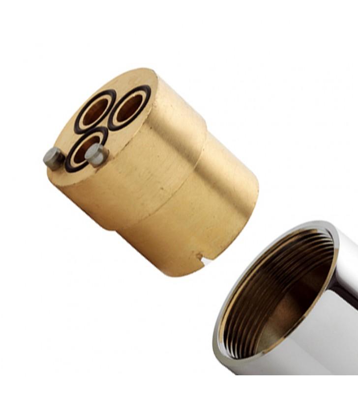 Prolunga per corpo monocomando doccia incasso cartuccia diam. 35 mm Remer R52PROL