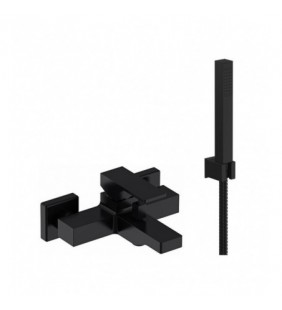 Miscelatore esterno vasca con kit doccia nero opaco serie Absolute Remer AU02NO