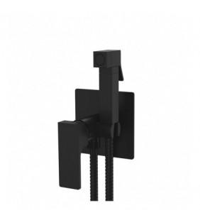 Miscelatore incasso per shut-off con kit doccino nero opaco serie Absolute Remer AU65NO