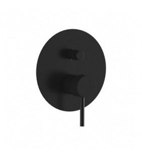 Miscelatore incasso vasca o doccia con deviatore nero opaco serie X Style Remer X09LNO