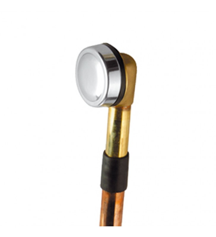 Colonna di scarico con tubo in rame con piletta click clack RR 96CC