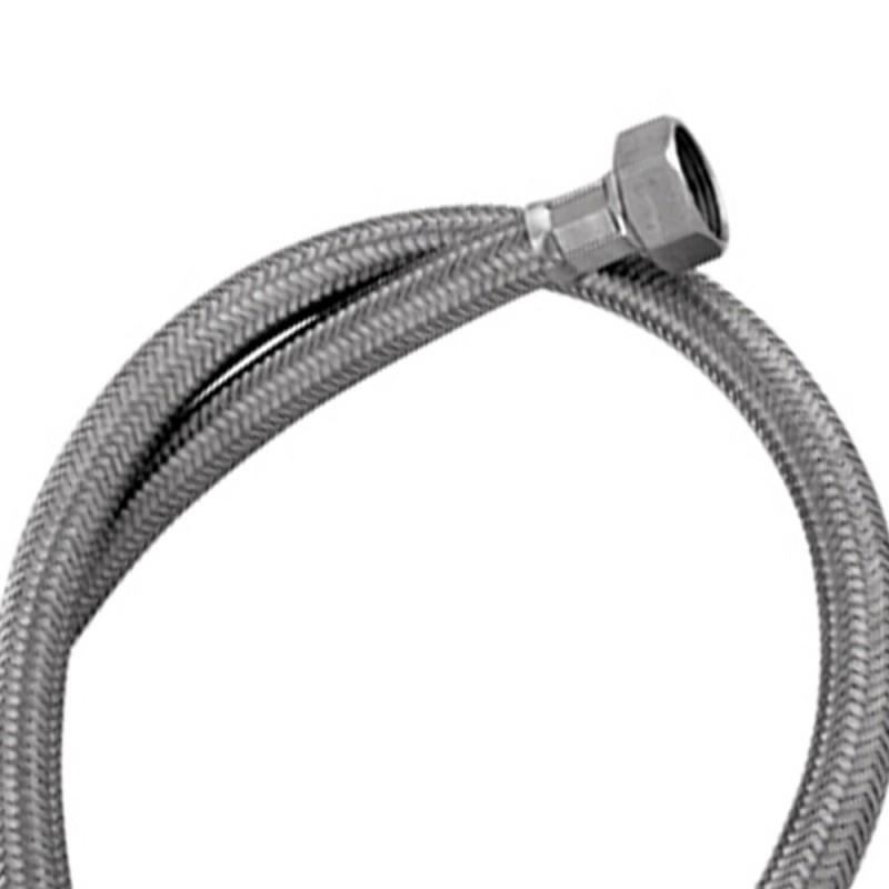 Tubo di carico in treccia di acciaio inox gigante per lavatrice 100 cm RR 293100
