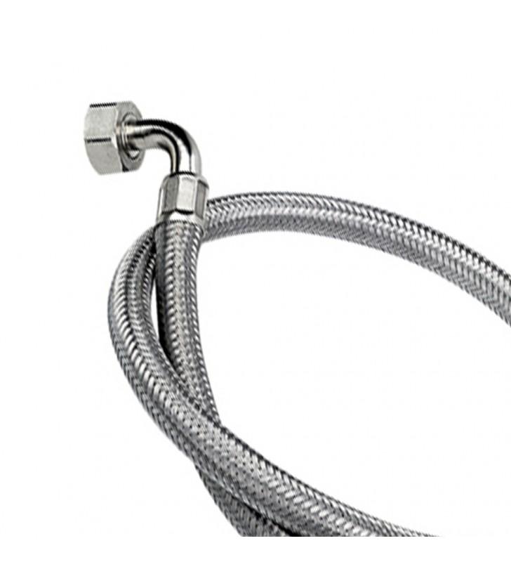 Tubo di carico in treccia di acciaio inox gigante con curvetta 150 cm RR 294150
