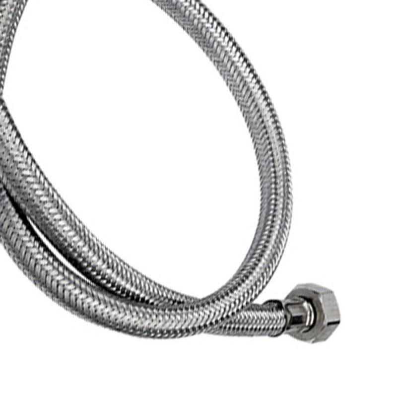 Tubo di carico in treccia di acciaio inox gigante con curvetta 200 cm RR 294200