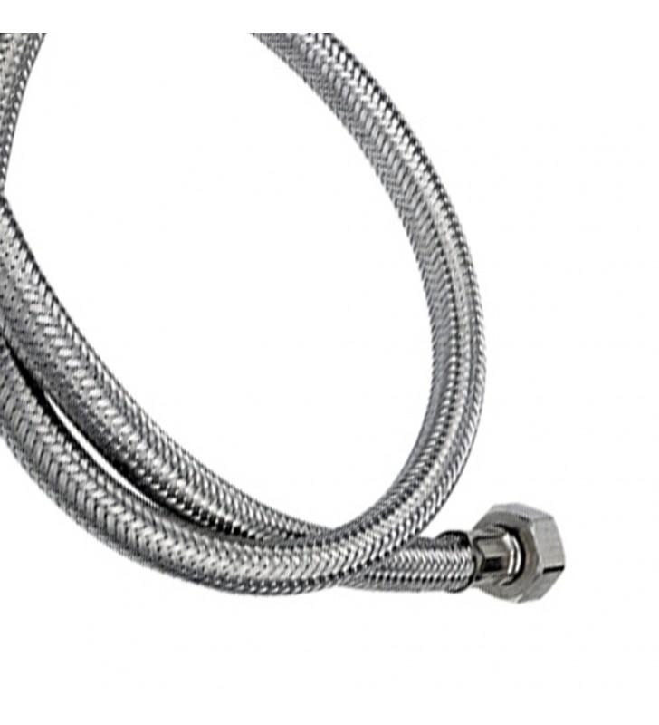 Tubo di carico in treccia di acciaio inox gigante con curvetta 250 cm RR 294250