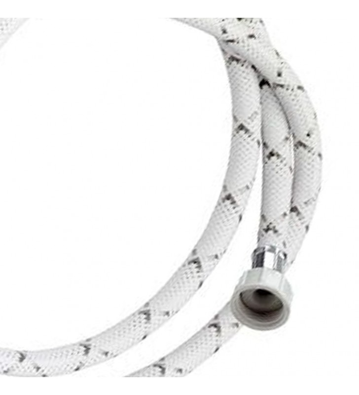 Tubo di carico con treccia in nylon bianco con banda grigia 150 cm RR 295150