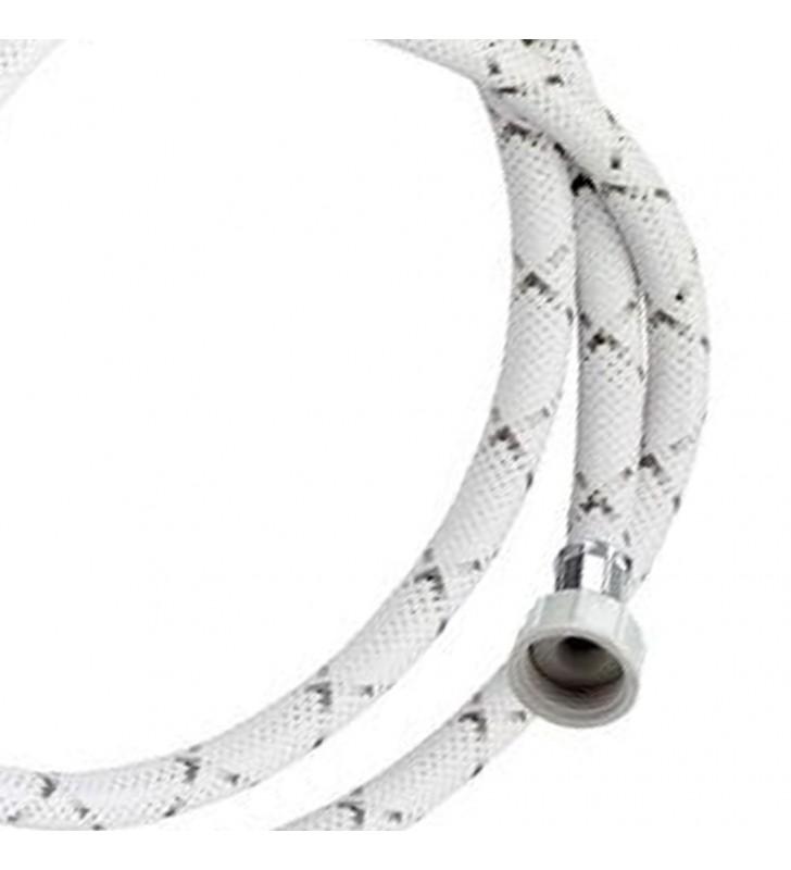 Tubo di carico con treccia in nylon bianco con banda grigia 250 cm RR 295250
