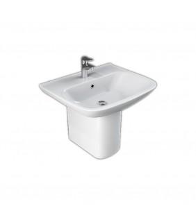 Lavabo da 65 cm con semicolonna in ceramica - serie River Idrobric SCACER0554LA-SCACER0556SC