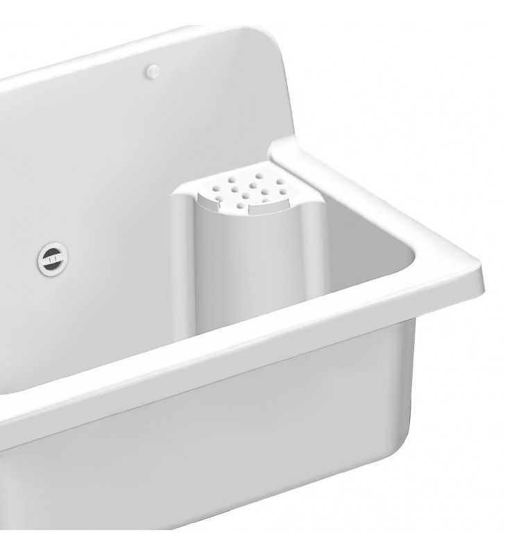 Lavatoio bianco da esterno 56X37 cm da 16 litri Idrobric SCACER0739PI
