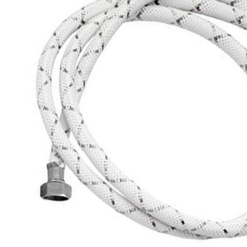 Tubo di carico con treccia in nylon bianco e dadi 100 cm RR 296OT100