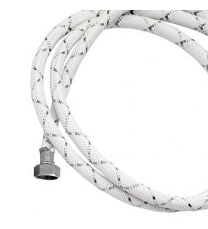 Tubo di carico con treccia in nylon bianco e dadi 250 cm RR 296OT250