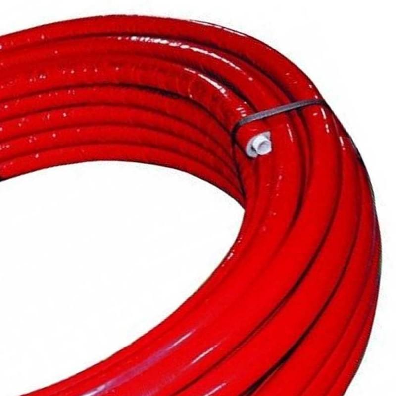 Rotolo mt. 50 tubo multistrato dm.20 rivestito rosso Idrobric SFURMT002750