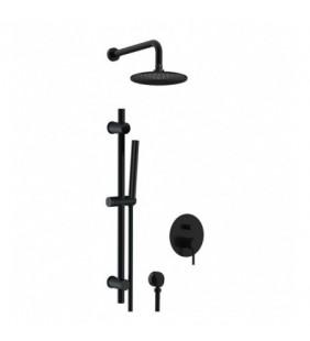 Set doccia completo a incasso con saliscendi nero opaco - serie X Style Remer X09S01LOXNO