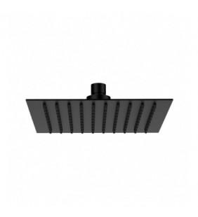 Soffione doccia quadrato ultrapiatto nero opaco in acciaio inox Remer 357UFSXNO