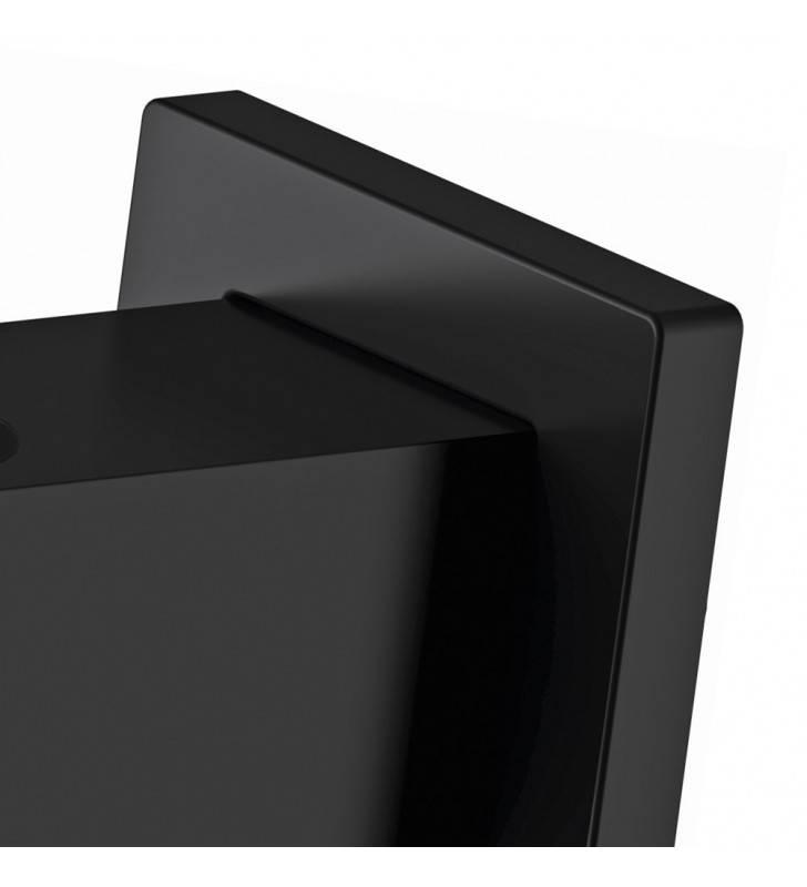 Presa acqua e supporto quadrato in ottone nero opaco Remer 337QNO