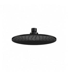 Soffione doccia minimale piatto in ottone nero opaco Remer 359MMXNO
