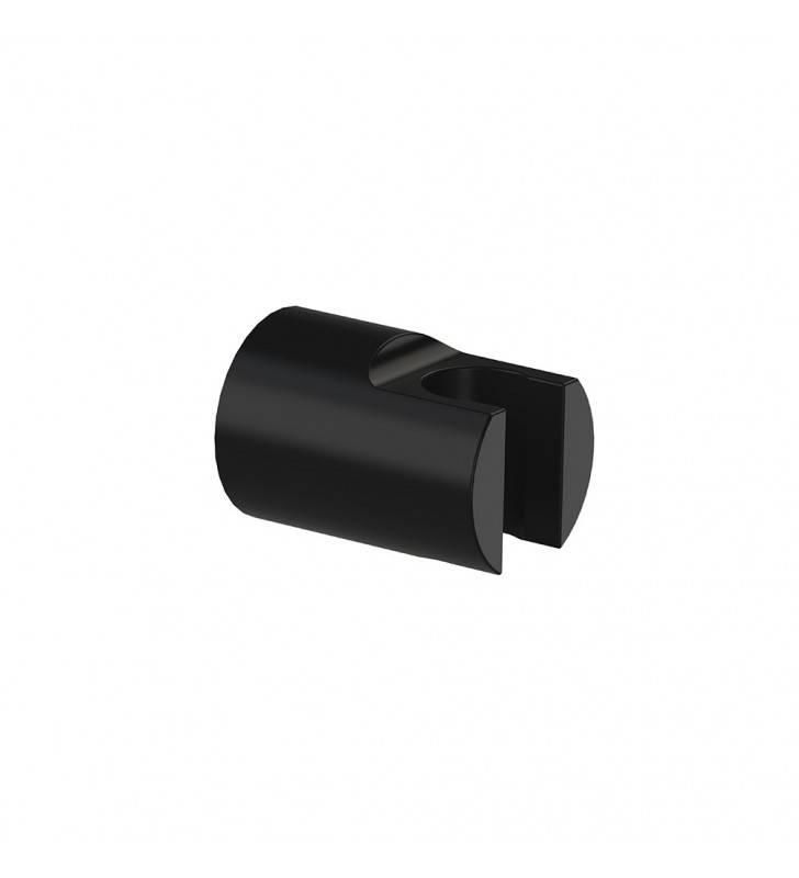 Supporto doccia tondo in ottone nero opaco con attacco conico per flessibile Remer 339SOMNO