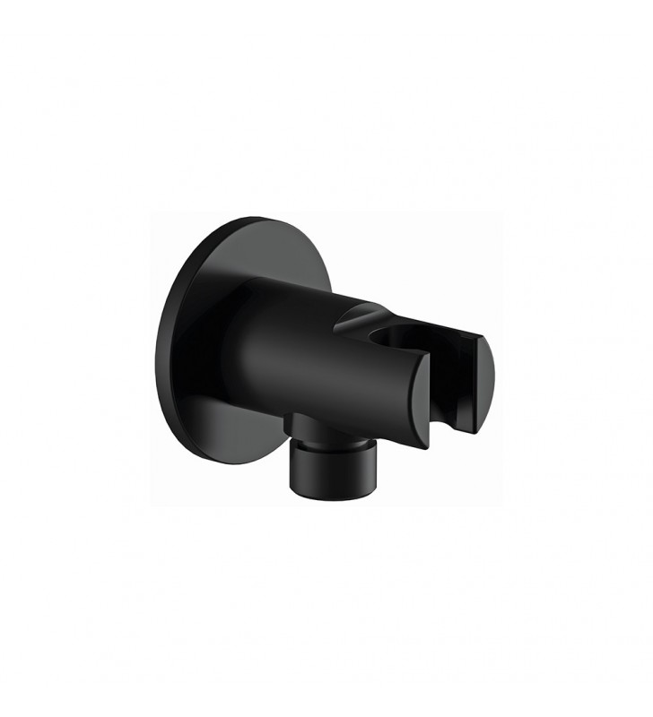 Presa acqua e supporto doccino minimale nero opaco Remer 337MNO
