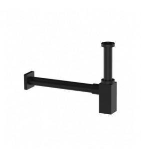 Sifone quadrato per lavabo in ottone nero opaco Remer 960NO