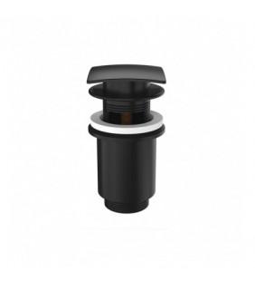Scarico quadro automatico con click clack e troppo pieno nero opaco Remer 905SCC114NO