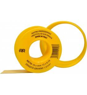 Nastro p.t.f.e. giallo professionale per gas 12mm x 10m Remer 573