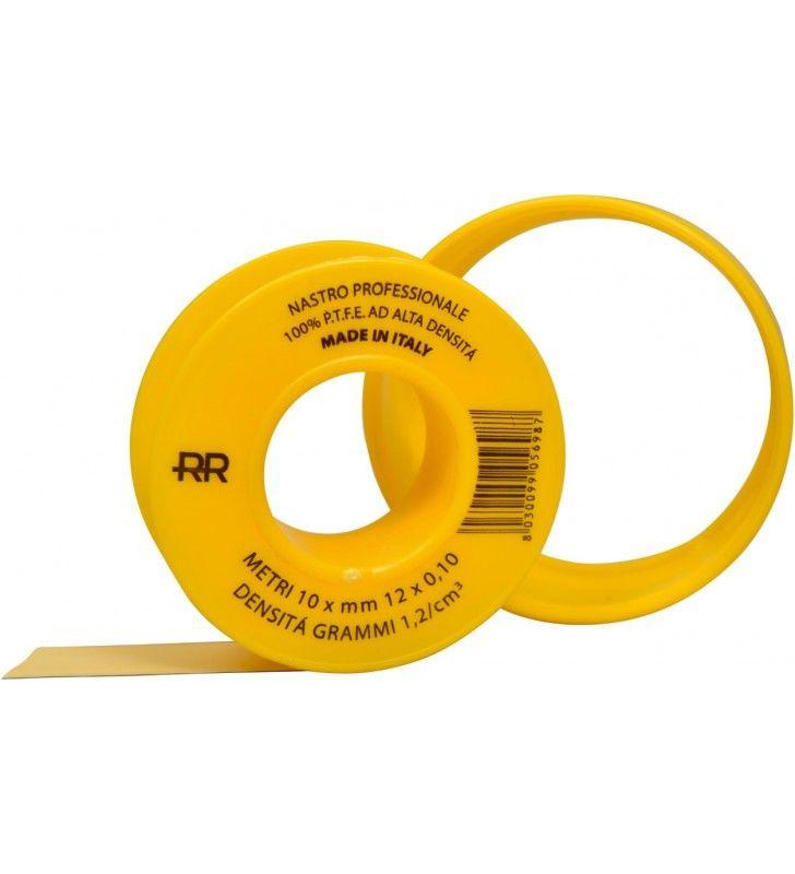 Nastro p.T.F.E. Giallo professionale per gas 12mm x 10m (MM17)