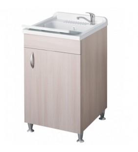Lavatoio eco 50x50 colore olmo per lavanderia Negrari 6003OL