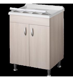 Lavatoio eco 60x50 colore olmo per zona lavanderia Negrari 6002OL