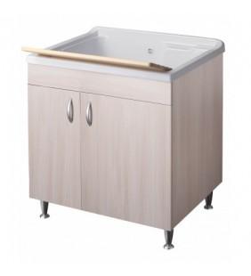 Lavatoio eco 75x60 colore olmo per lavanderia Negrari 6013OL