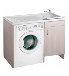 Coprilavatrice eco 109x60 colore olmo sinistro per zona lavanderia Negrari 6008DXOL