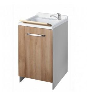 Lavatoio top colora 45x50 anta rovere per lavanderia Negrari 2006LE