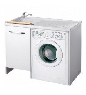 Coprilavatrice top color 109x60 anta bianca sinistro per lavanderia Negrari 2008LSX