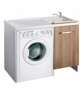 Coprilavatrice top color 109x60 anta rovere destro per zona lavanderia Negrari 2008LEDX