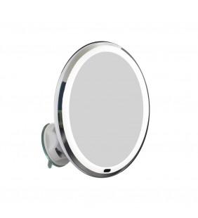 Specchio ingranditore 10x a Led, orientabile a 360° con ventosa Idrobric AV663VEN