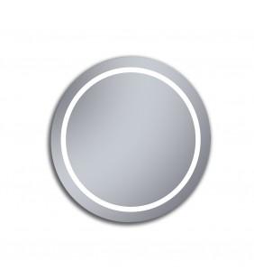 Specchio bagno tondo con diametro da 80 cm e retroilluminazione led