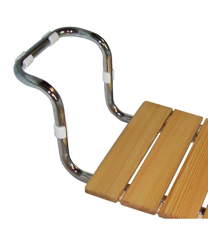 Seggiolino in larice regolabile x vasca testato tuv portata 120 kg Idrobric U82190