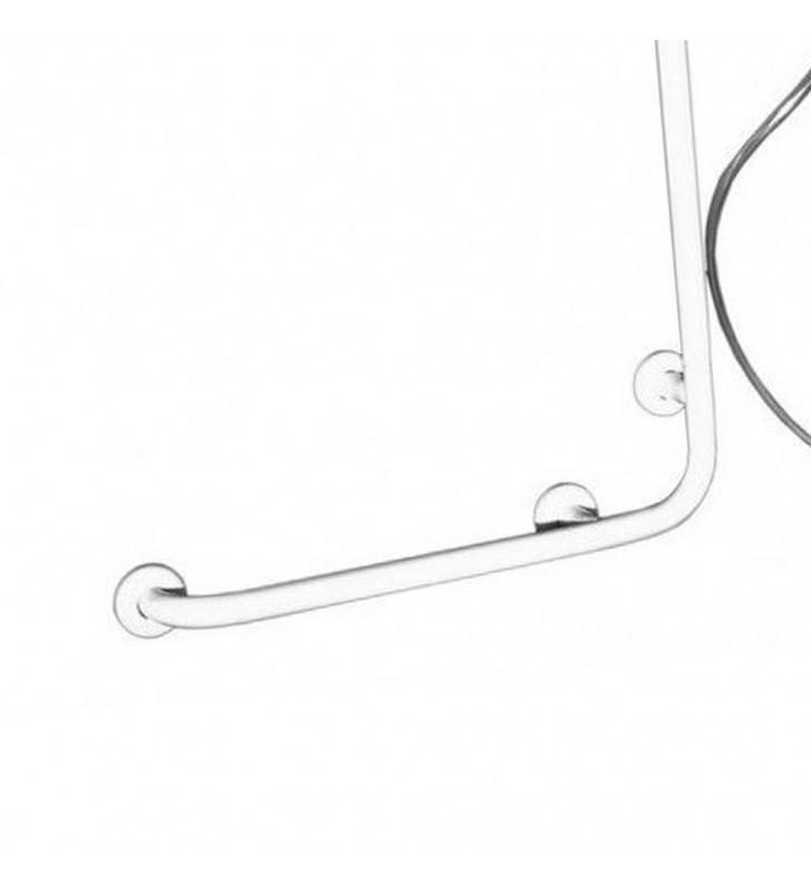 Goman maniglia inox saliscendi doccia 60x120 bianco Goman D0032B/01