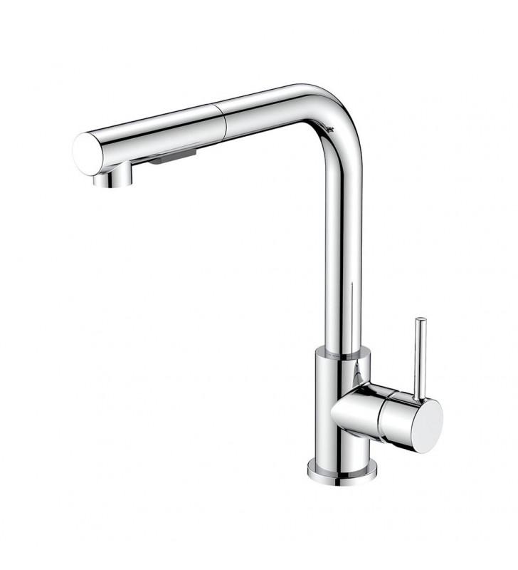 Miscelatore lavello alto con doccia estraibile - Serie Phoenix Idrobric SCARUB1042CR