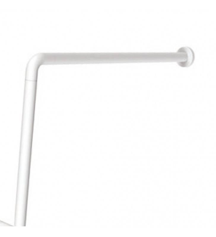 Barra maniglione parete e pavimento per disabili e terza et〠destra o sinistra alluminio nylon bianco Goman AN-B01/01