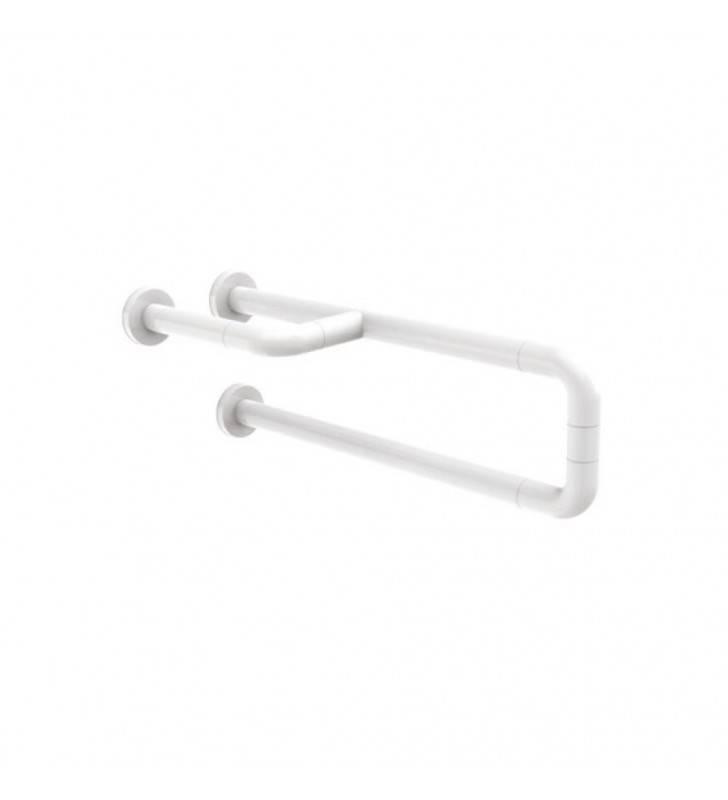 Barra maniglione fissa destra o sinistra per ausili disabili cm60 alluminio e nylon bianco Goman AN-B02/01