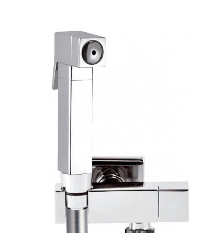 Set idroscopino composto da: idroscopino rb120 sq, flessibile 80 cm e rubinetto ad angolo sq. Remer RB120S0180