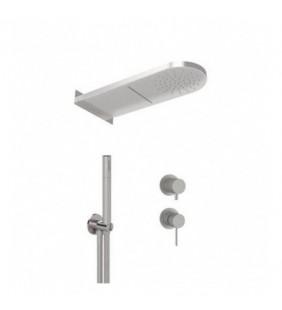 Set doccia con miscelatore incasso, soffione a parete e doccino in acciaio inox - Serie X Style Inox Remer SSX93PS02MMCA