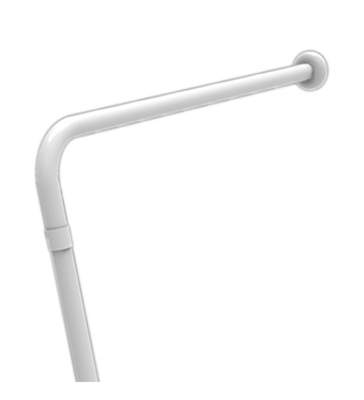 Barra maniglione parete e pavimento con rinforzo universale destra sinistra nylon adatta a persone disabili e di terza et〠G...