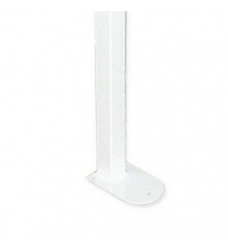 Maniglione barra ribaltabile su colonna con porta rotolo bianco Goman ZB08/01