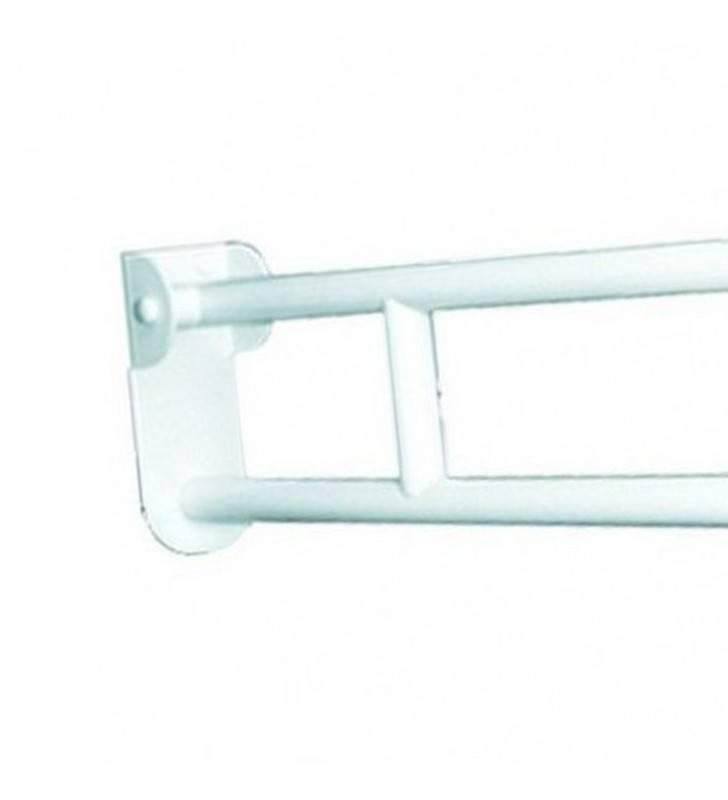 Maniglione barra ribaltabile con piastra lunga e porta rotolo Goman ZB12P/01