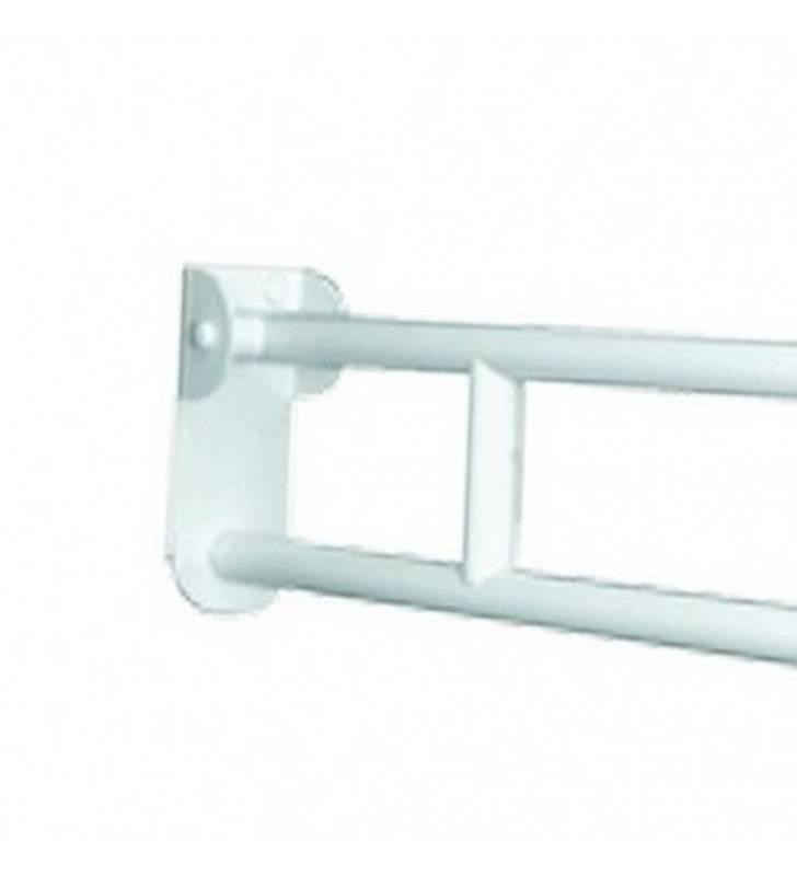 Maniglione barra ribaltabile cm 83 con piastra lunga bianca Goman ZB83L/01