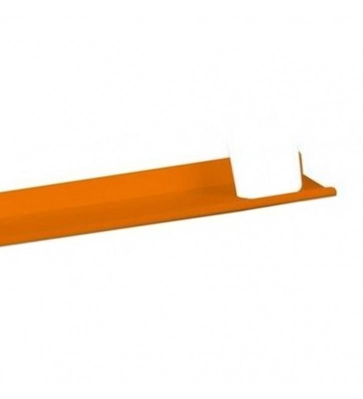 Mensola alluminio arancio con bicchiere Goman LEO-B163/65