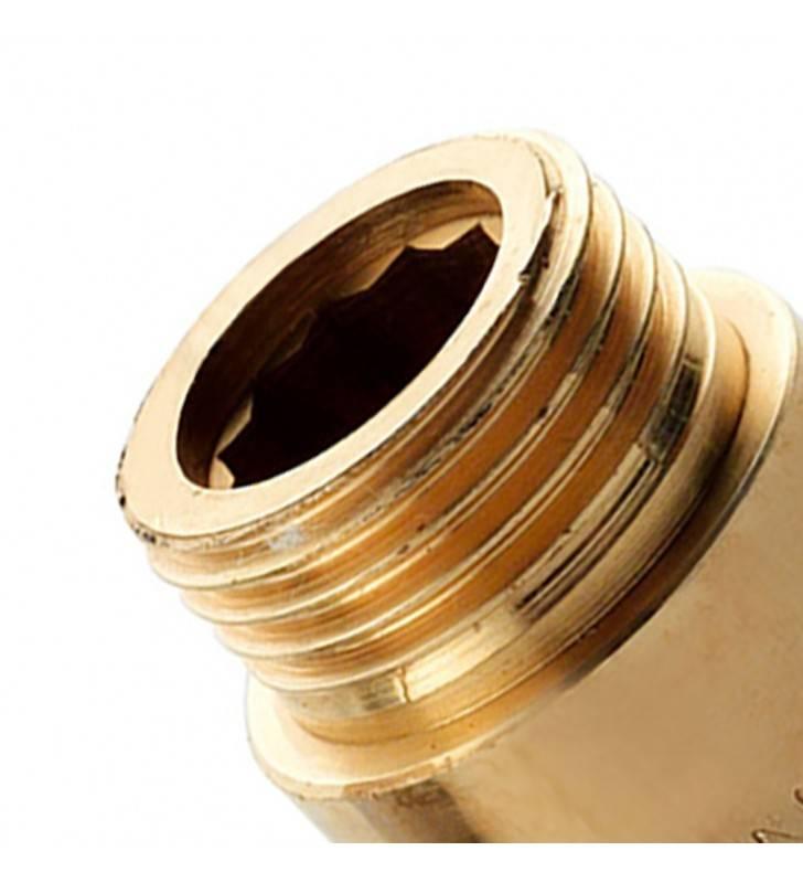 Prolunghe ottone giallo 3/4x60 Remer 502OG3460