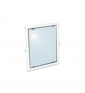 Specchio reclinabile da 63x54 in alluminio rivestito in nylon bianco Goman AN-B20/01