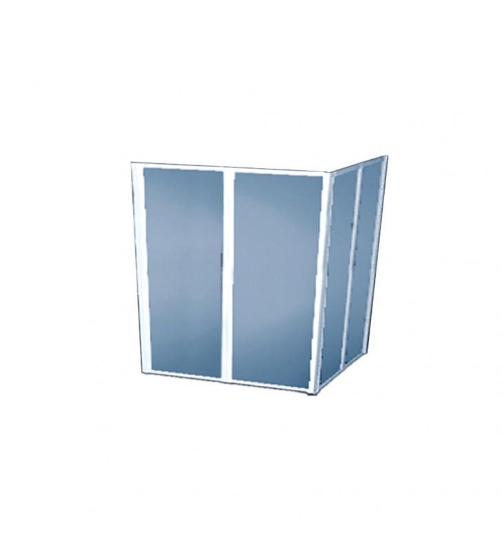 Box doccia di cm 80x80 h 100 in polyglass Goman D0146/01